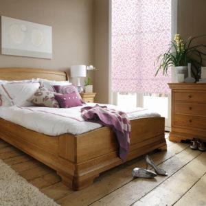 Шторы рулонные в спальню Полупрозрачные лиловые