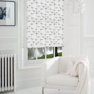 Рулонные шторы чёрно-белые СТРЕКОЗЫ